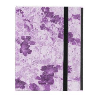 ヴィンテージの刺激を受けたな花の藤色 iPad ケース