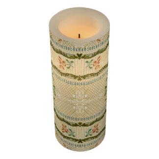 ヴィンテージの刺繍の花のFlameless蝋燭 LEDキャンドル