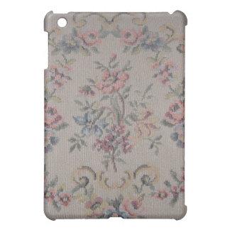 ヴィンテージの刺繍の針先のばら色のタペストリー iPad MINI CASE