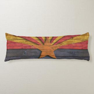 ヴィンテージの動揺してな木製のアリゾナの旗 ボディピロー