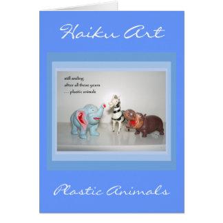 ヴィンテージの動物のカスタマイズ可能な俳句の挨拶状 カード
