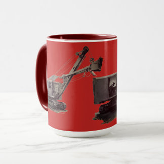 ヴィンテージの北西クレーン重い装置のシャベル マグカップ