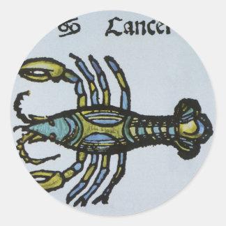 ヴィンテージの十二宮、蟹座カニ ラウンドシール