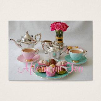 ヴィンテージの午後のお茶のカスタマイズ可能な名刺 名刺