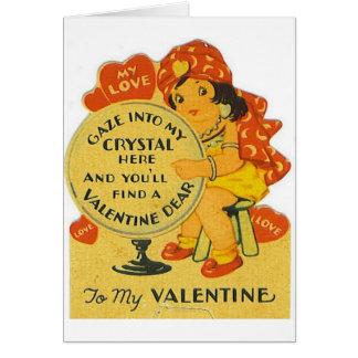 ヴィンテージの占い師のバレンタインデーカード カード