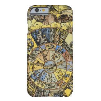 ヴィンテージの占星術、Renaisanceの(占星術の)十二宮図の車輪1555年 Barely There iPhone 6 ケース
