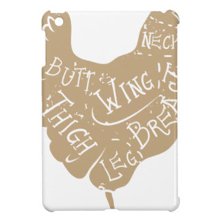 ヴィンテージの印刷の鶏の肉屋は図表を切ります iPad MINIケース