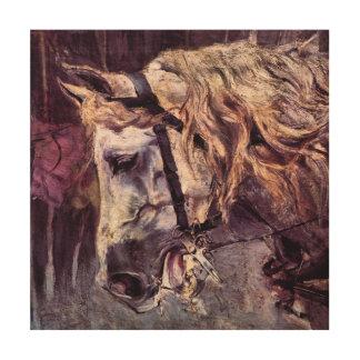 ヴィンテージの印象主義、Boldini著馬の頭部 ウッドウォールアート