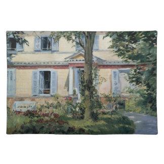 ヴィンテージの印象主義、Manet著Rueilの家 ランチョンマット