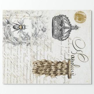 ヴィンテージの原稿の蜂の包装紙 ラッピングペーパー