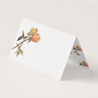 ヴィンテージの友情のバラの誕生会のテーブル プレイスカード