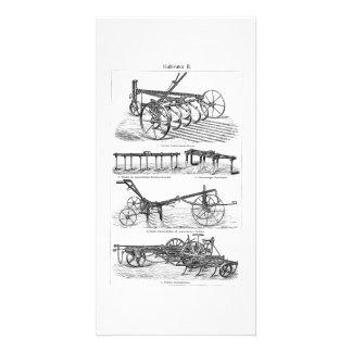 ヴィンテージの古いすきの農機具の農業のすき カード