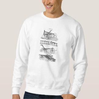 ヴィンテージの古いすきの農機具の農業のすき スウェットシャツ