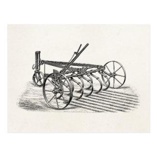ヴィンテージの古いすきの農機具の農業のすき ポストカード