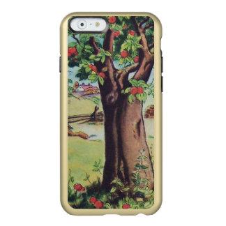 ヴィンテージの古いりんごの木草原分野 INCIPIO FEATHER SHINE iPhone 6ケース