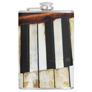 ヴィンテージの古いピアノ鍵 フラスク
