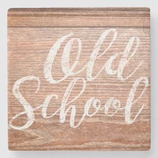 ヴィンテージの古い学校の卓上 ストーンコースター