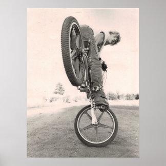 ヴィンテージの古い学校BMX ポスター