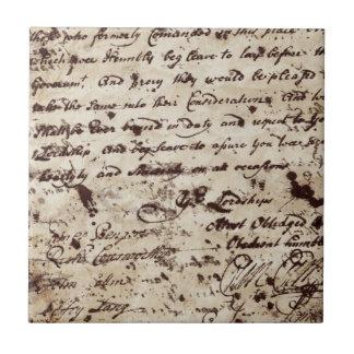 ヴィンテージの古い手紙 タイル