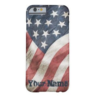 ヴィンテージの古い栄光名前入りなレトロ米国の旗 BARELY THERE iPhone 6 ケース
