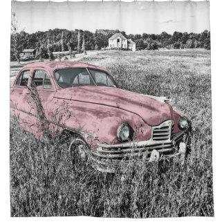 ヴィンテージの古い車 シャワーカーテン