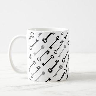 ヴィンテージの合い鍵のマグ コーヒーマグカップ