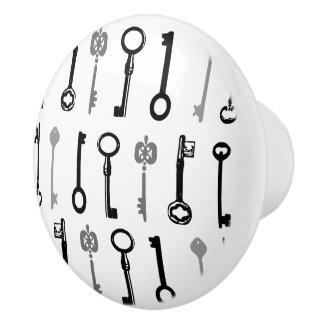 ヴィンテージの合い鍵の陶磁器のノブ セラミックノブ
