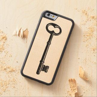 ヴィンテージの合い鍵 CarvedメープルiPhone 6バンパーケース