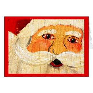 ヴィンテージの合板サンタ カード