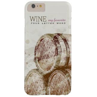 ヴィンテージの名前入りなクラシックで古いワインバレル BARELY THERE iPhone 6 PLUS ケース