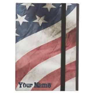 ヴィンテージの名前入りなレトロの古い栄光米国の旗 iPad AIRケース