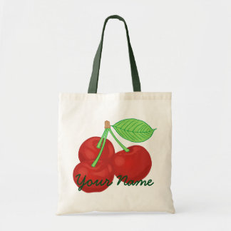 ヴィンテージの名前入りな赤いさくらんぼのさくらんぼの集り トートバッグ