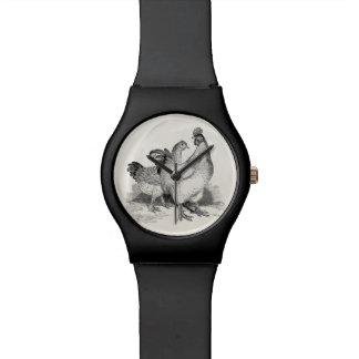 ヴィンテージの名前入りな鶏のオンドリのコシャンの鳥 腕時計