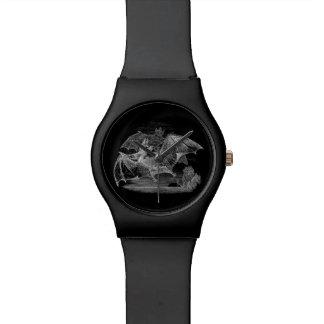 ヴィンテージの吸血コウモリの名前入りなレトロの古いこうもり 腕時計