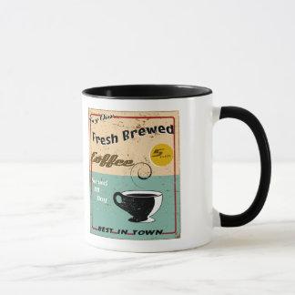 ヴィンテージの喫茶店の印 マグカップ