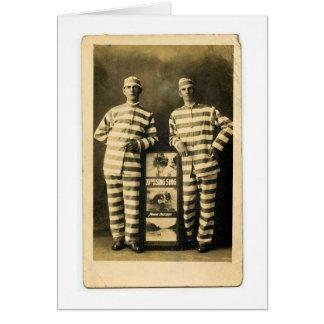 ヴィンテージの囚人 グリーティングカード