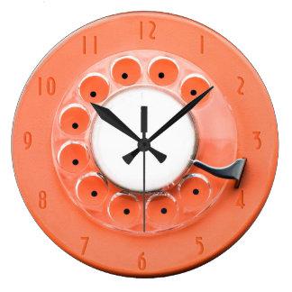 ヴィンテージの回転式のダイヤルのノベルティの柱時計 ラージ壁時計