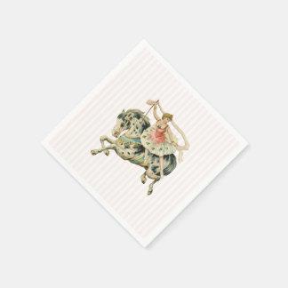 ヴィンテージの回転木馬の紙ナプキン スタンダードカクテルナプキン