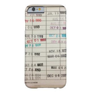 ヴィンテージの図書館の支払期日カード BARELY THERE iPhone 6 ケース
