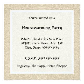 ヴィンテージの国スタイルのキルトの引っ越し祝いパーティーのパーティー カード