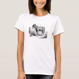 ヴィンテージの国内ろばの名前入りなレトロのろば Tシャツ