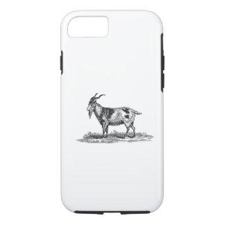 ヴィンテージの国内ヤギの絵- 1800'sヤギ iPhone 8/7ケース