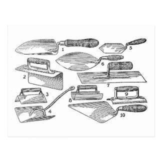 ヴィンテージの園芸工具 ポストカード