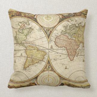 ヴィンテージの地図のデザインの装飾用クッション クッション