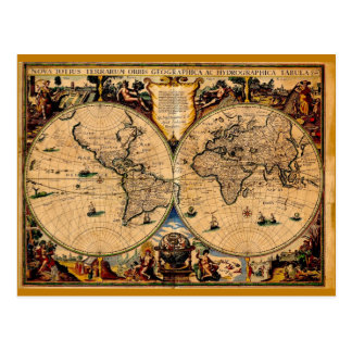 ヴィンテージの地図の新星のtotiusのterrarum 1625年 ポストカード
