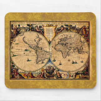 ヴィンテージの地図の新星のtotiusのterrarum 1625年 マウスパッド