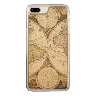 ヴィンテージの地図のiPhoneの場合 Carved iPhone 8 Plus/7 Plus ケース