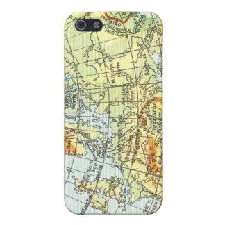 ヴィンテージの地図のiPhone 4のSpeckの場合 iPhone 5 Case
