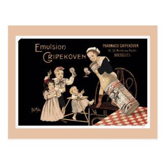 ヴィンテージの均質化されたミルクの広告 ポストカード