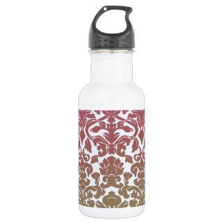 ヴィンテージの壁紙のピンク ウォーターボトル